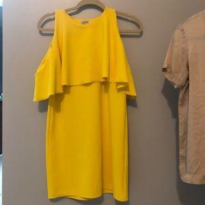 Zara yellow off the should dress